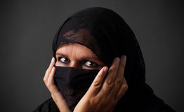 Middle-aged muslim woman Royalty Free Stock Photos