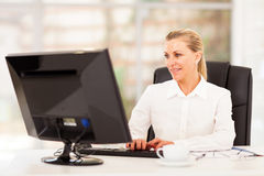 Middle aged office worker Royalty Free Stock Photos