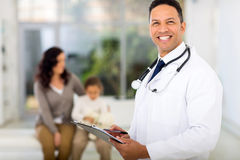 Middle aged pediatrician Royalty Free Stock Image