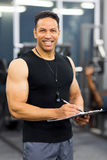 Middle aged personal trainer Stock Photo