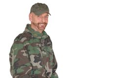 Middle aged pride soldier Stock Photos