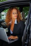 Middle-aged redhead businesswoman Royalty Free Stock Images
