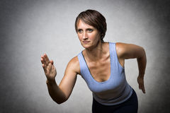Middle aged running woman Royalty Free Stock Photos