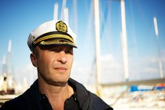 Middle-aged sailor Stock Photo