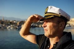 Middle-aged sailor Stock Photos