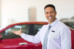 Middle aged salesman Stock Images