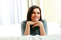 Middle-aged smiling woman Royalty Free Stock Photography