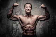 Middle-aged sporty man Stock Images