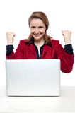 Middle aged successful businesswoman Stock Photos