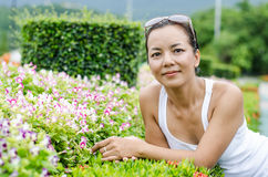 Middle - aged  Thai attractive woman. Royalty Free Stock Image