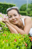 Middle - aged  Thai attractive woman. Royalty Free Stock Photography