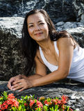 Middle - aged  Thai attractive woman. Royalty Free Stock Photos