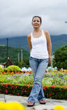 Middle - aged  Thai attractive woman. Stock Images