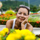 Middle - aged  Thai attractive woman. Stock Photos