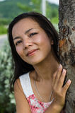 Middle - aged  Thai attractive woman. Royalty Free Stock Images