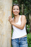 Middle - aged  Thai attractive woman. Stock Image