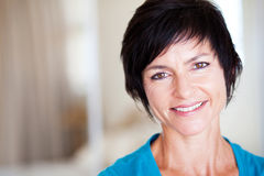 Middle aged woman. Closeup portrait of elegant middle aged woman Stock Photography