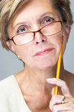Middle-aged woman stock images