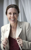 Middle Aged Woman with a Beautiful Smile Royalty Free Stock Photos