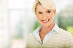Middle aged woman closeup Stock Photography