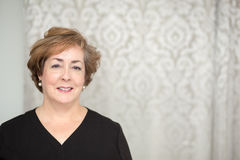 Middle aged woman with copy space Royalty Free Stock Image
