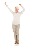 Middle aged woman dancing Stock Photo