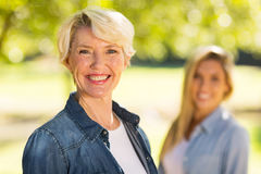 Middle aged woman daughter Stock Photography