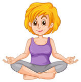 Middle aged woman doing yoga Stock Image