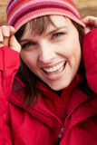 Middle Aged Woman Dressed For Cold Weather Stock Photo