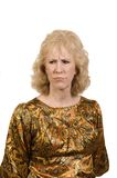 Middle-aged woman frowning Royalty Free Stock Photo