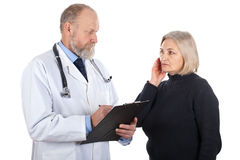 Middle aged woman at the gynaecologist Stock Photo