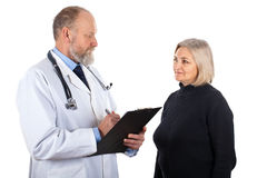 Middle aged woman at the gynaecologist Stock Photos