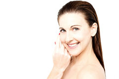 Middle aged woman with healthy complexion Royalty Free Stock Image