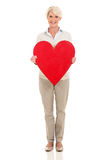 Middle aged woman heart Stock Photo