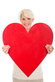 Middle aged woman heart shape Royalty Free Stock Photo