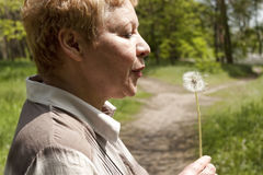 Middle-aged Woman In Profile Royalty Free Stock Photo