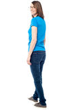 Middle aged woman model looking back Royalty Free Stock Photography