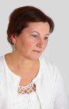 Middle aged woman portrait Stock Images