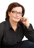Middle aged woman portrait Royalty Free Stock Photo