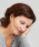 Middle aged woman portrait Royalty Free Stock Image