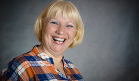 Middle aged woman portrait. Stock Image