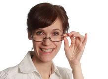Middle-aged woman portrait Stock Image