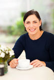 Middle aged woman relaxing Royalty Free Stock Images