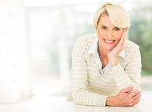Middle aged woman relaxing Stock Photos