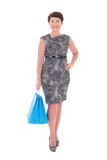 Middle aged woman with shopping bags Royalty Free Stock Photos