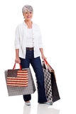 Middle aged woman shopping Royalty Free Stock Photo