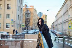 Middle aged woman in St. Petersburg Stock Images
