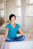Middle aged woman yoga Stock Photos
