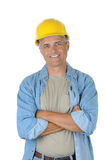 Middle aged Worker with his arms crossed Royalty Free Stock Photography