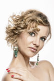 Middle-aged 40 year old woman glamor portrait Royalty Free Stock Photo